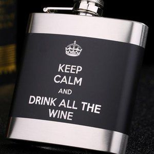 Other - 6-oz. Stainless Steel Quote Flask